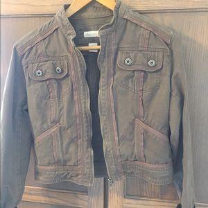 Maurice's crop utility jacket L khaki